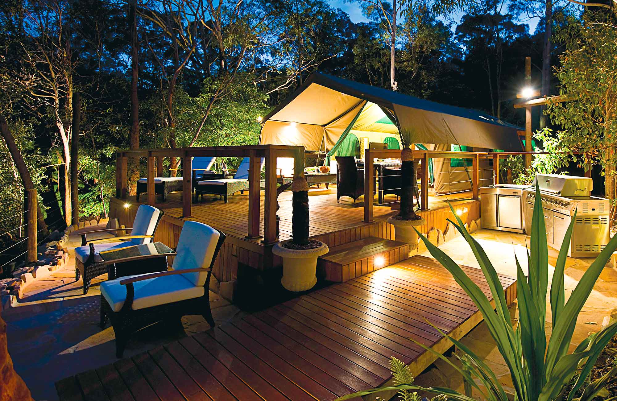 Tandara luxury campground, Lane Cove National Park. Photo: OEH
