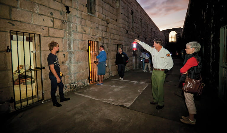 Historic Trial Bay Gaol Tour, Arakoon National Park. Photo: Rob Cleary