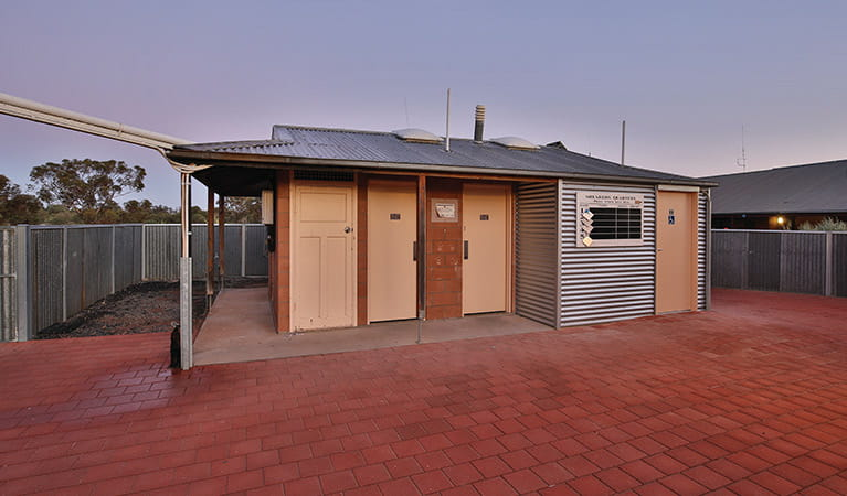 Exterior of bathroom block building at Mungo Shearers' Quarters accommodation. Photo: Vision House Photography/OEH
