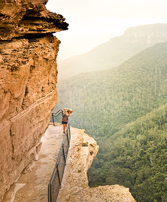 Giant Staircase, National Pass walking track in Blue Mountains National Park. Photo: D Finnegan/OEH