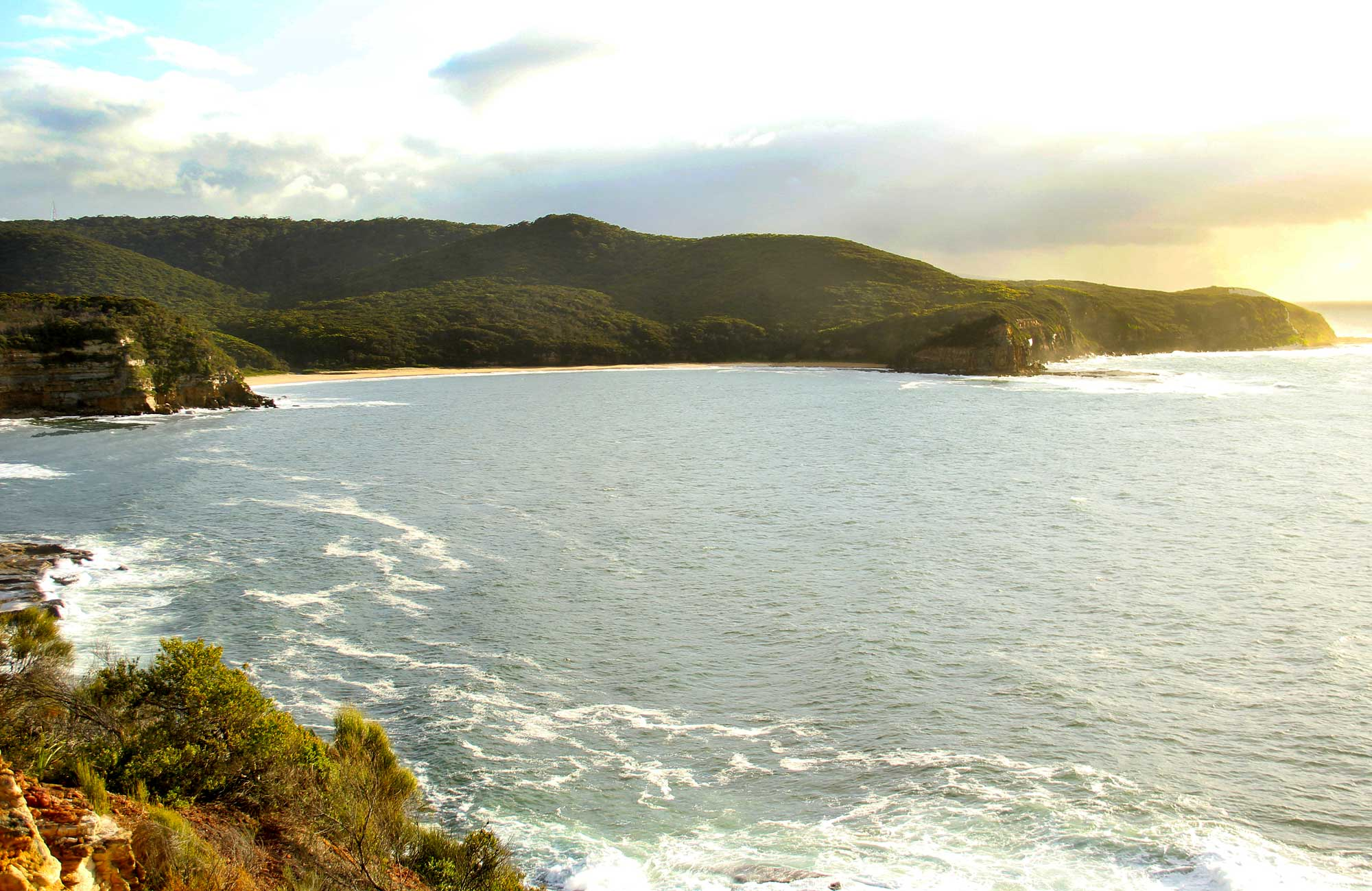 The view from the lookout along the coast. Photo: John Yurasek