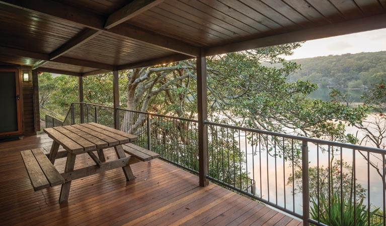 Weemalah Cottage balcony view, Royal National Park. Photo: John Spencer