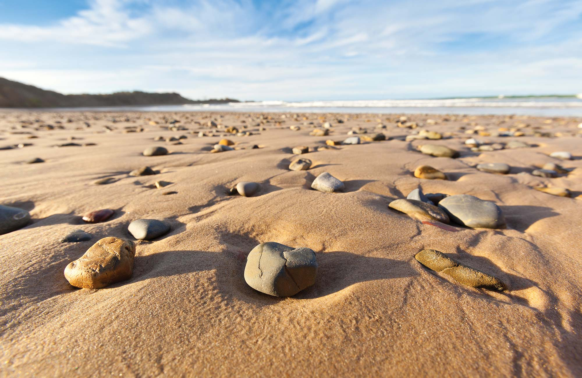 Pebbles on the beach, Yuraygir National Park. Photo: Rob Cleary