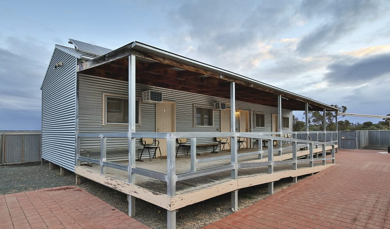 Exterior of the Shearers' Quarters accommodation, Mungo National Park. Photo: Vision House Photography