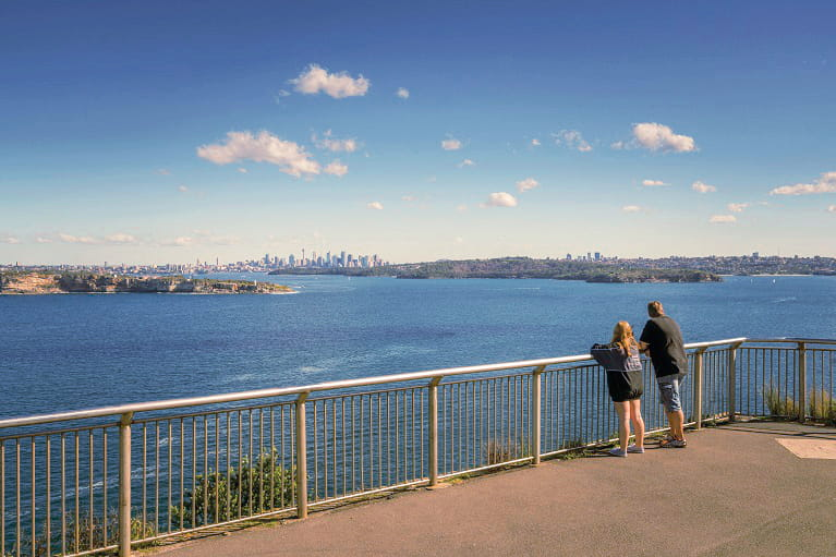 Views from Fairfax Lookout along the Fairfax Walk at North Head, Sydney Harbour National Park. Photo: John Spencer/OEH